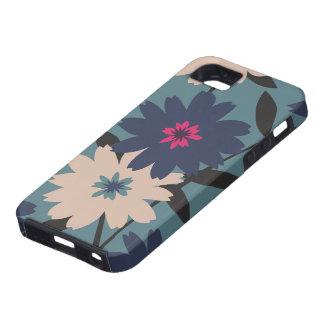 Blue & Cream Floral iPhone 5 Case