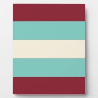Blue Cream Stripes Pattern Plaques