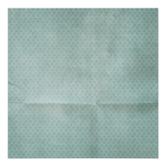 Blue Creased Polka Dots BAckground Poster
