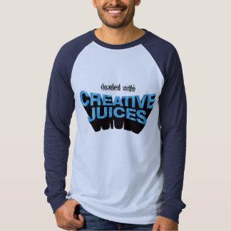 Blue Creative Juices Long Sleeve Raglan Tee Shirt