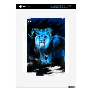 Blue Creature Concept Decals For iPad 3