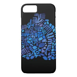 Blue creature mosaic iPhone 8/7 case