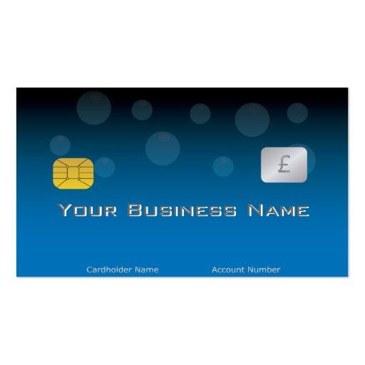 Blue Credit Card Style Business Card