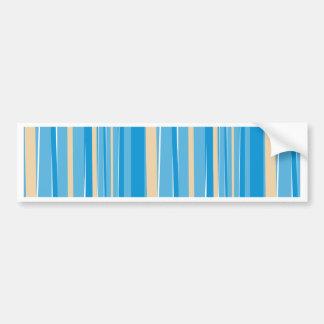 Blue & Creme Modern Stripe Bumper Sticker