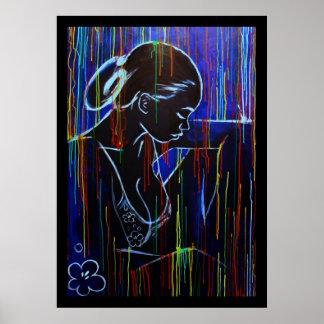 Blue Creole Rain Print