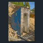 "Blue Crescent Moon Outhouse - Privy Photo Print<br><div class=""desc"">Blue outhouse with a crescent moon on the side in an old mining town makes a fun conversation starter</div>"