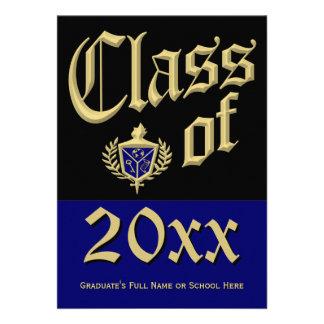 Blue Crest Graduation Announcement