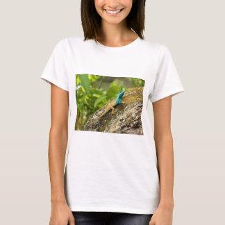 Blue-Crested Lizard Calotes Mystaceus T-Shirt