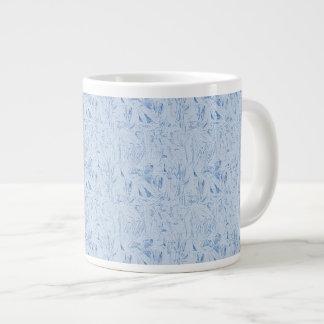 Blue Crinkle Texture Large Coffee Mug