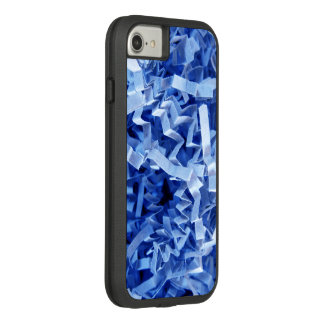 Blue Crinkled Shredded Paper Close-Up Photography Case-Mate Tough Extreme iPhone 8/7 Case