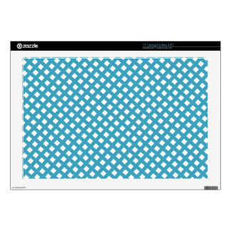 "Blue Criss Cross Pattern Decals For 17"" Laptops"