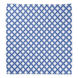 Blue Crisscross & Boxes Geometric Pattern Bandana