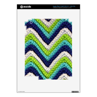 Blue Crochet Chevron iPad 3 Skin