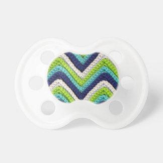Blue Crochet Chevron Pacifier