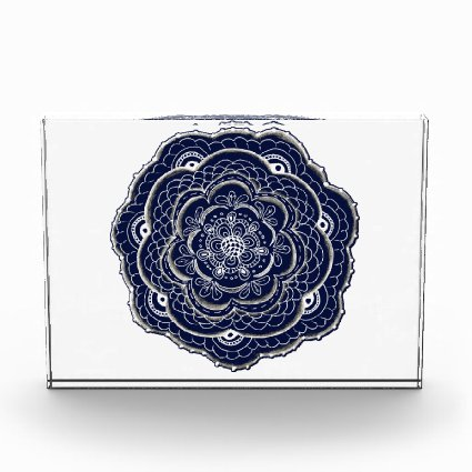 Blue Crocheted Doily Doodle Awards
