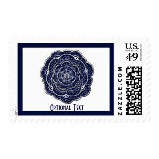 Blue Crocheted Doily Doodle Stamps