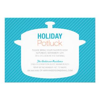 BLUE CROCK POT | HOLIDAY POTLUCK INVITATIONS