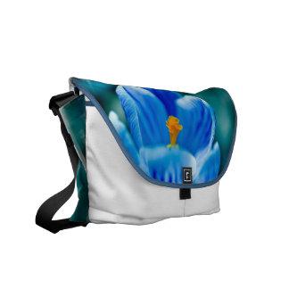 Blue Crocus Messenger Bag
