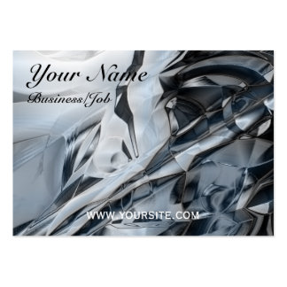 Blue Crome Large Business Cards (Pack Of 100)