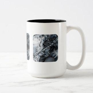 Blue Crome Coffee Mug