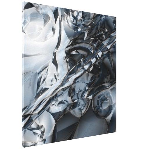 Blue Crome Stretched Canvas Prints