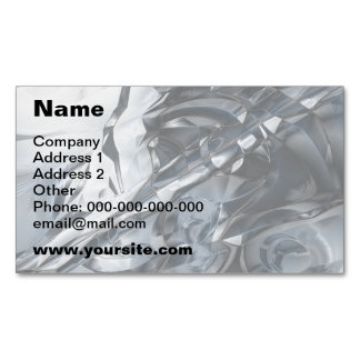 Blue Crome Magnetic Business Cards