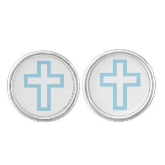 Blue Cross Cufflinks