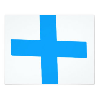 "Blue Cross 4.25"" X 5.5"" Invitation Card"