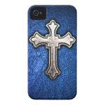 Blue Cross iPhone 4 Case-Mate Case