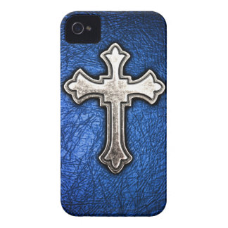 Blue Cross iPhone 4 Cover