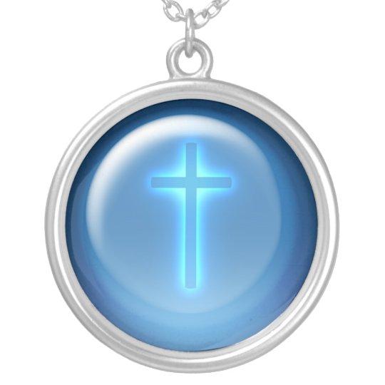 Blue Cross - Necklace