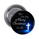 blue-cross-on-at-a-church, You , Can Say, Merry... 2 Inch Round Button