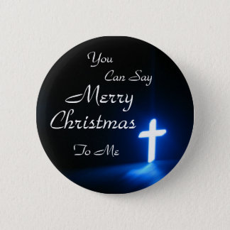 blue-cross-on-at-a-church, You , Can Say, Merry... Button