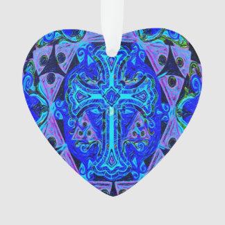 Blue Cross Pattern