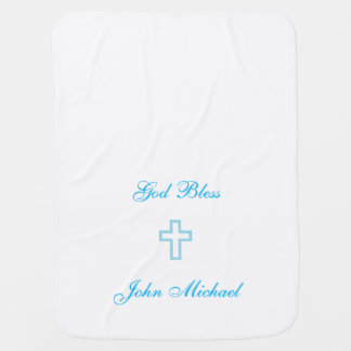 Blue Cross Personalized Baby Blanket