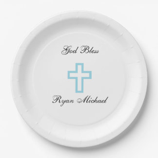 Blue Cross Personalized Paper Plates