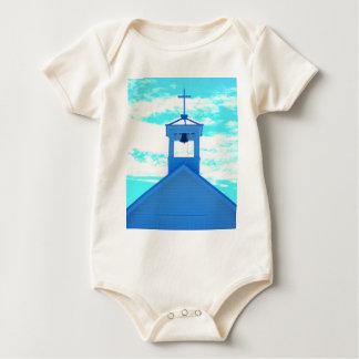 """Blue Cross"" Photo~ church steeple, Boca Grand Fl Baby Bodysuit"