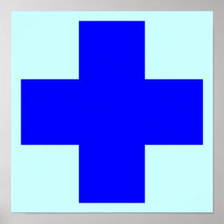 Blue cross poster