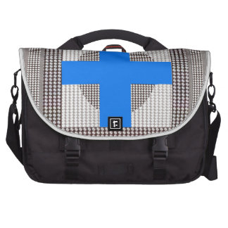 BLUE Cross Sparkle White Crystal Beads Gifts chr Laptop Bags