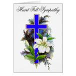 Blue Cross Sympathy Card 8 Greeting Card