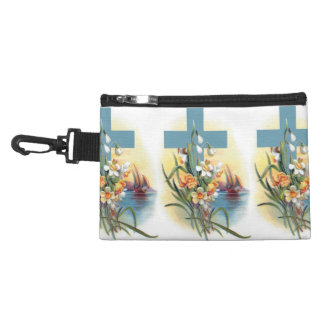 Blue Cross With Flowers And Boats Accessories Bag