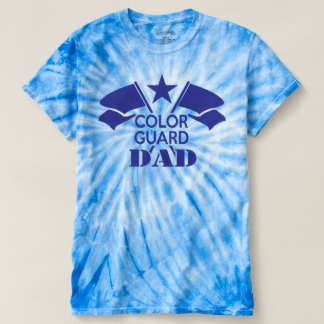 Blue Crossed Flags Color Guard Dad t-shirt