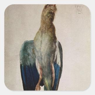 Blue Crow, 1512 Square Sticker