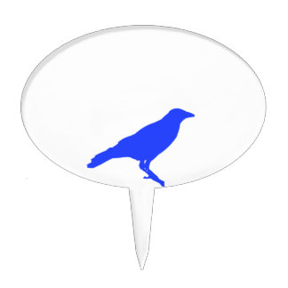 Blue Crow Cake Topper