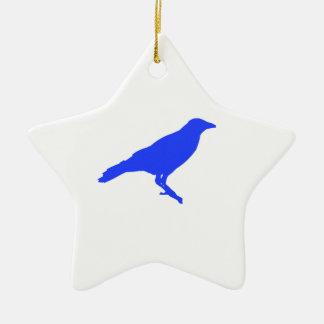 Blue Crow Ceramic Ornament