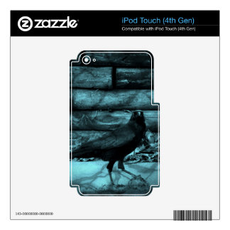 Blue Crow Shadows iPod Touch 4G Skins