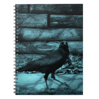 Blue Crow Shadows Notebook