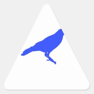 Blue Crow Triangle Sticker