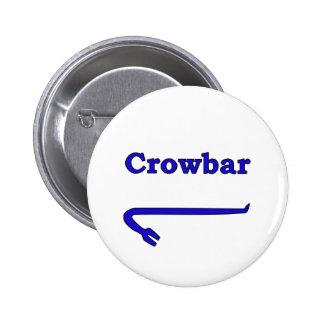Blue crowbar pinback button