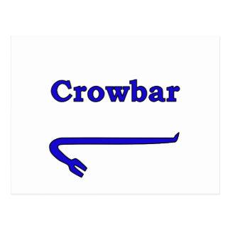 Blue crowbar postcard